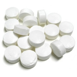Potassium Metabisulphite tablets, also known as campden tablets