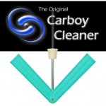 Carboy Cleaner - drill mounted rotating sponge carboy cleaning