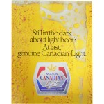 Molson - Still in the dark about light beer - poster