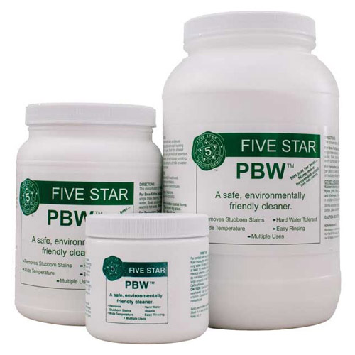 Powdered Brewery Wash (PBW) - an environmentally friendly cleaning agent
