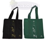 Green and Black 6 Pack Wine Bottle Carrier