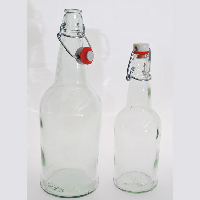 EZ Cap Swing Top Bottles (Clear) 12 pack